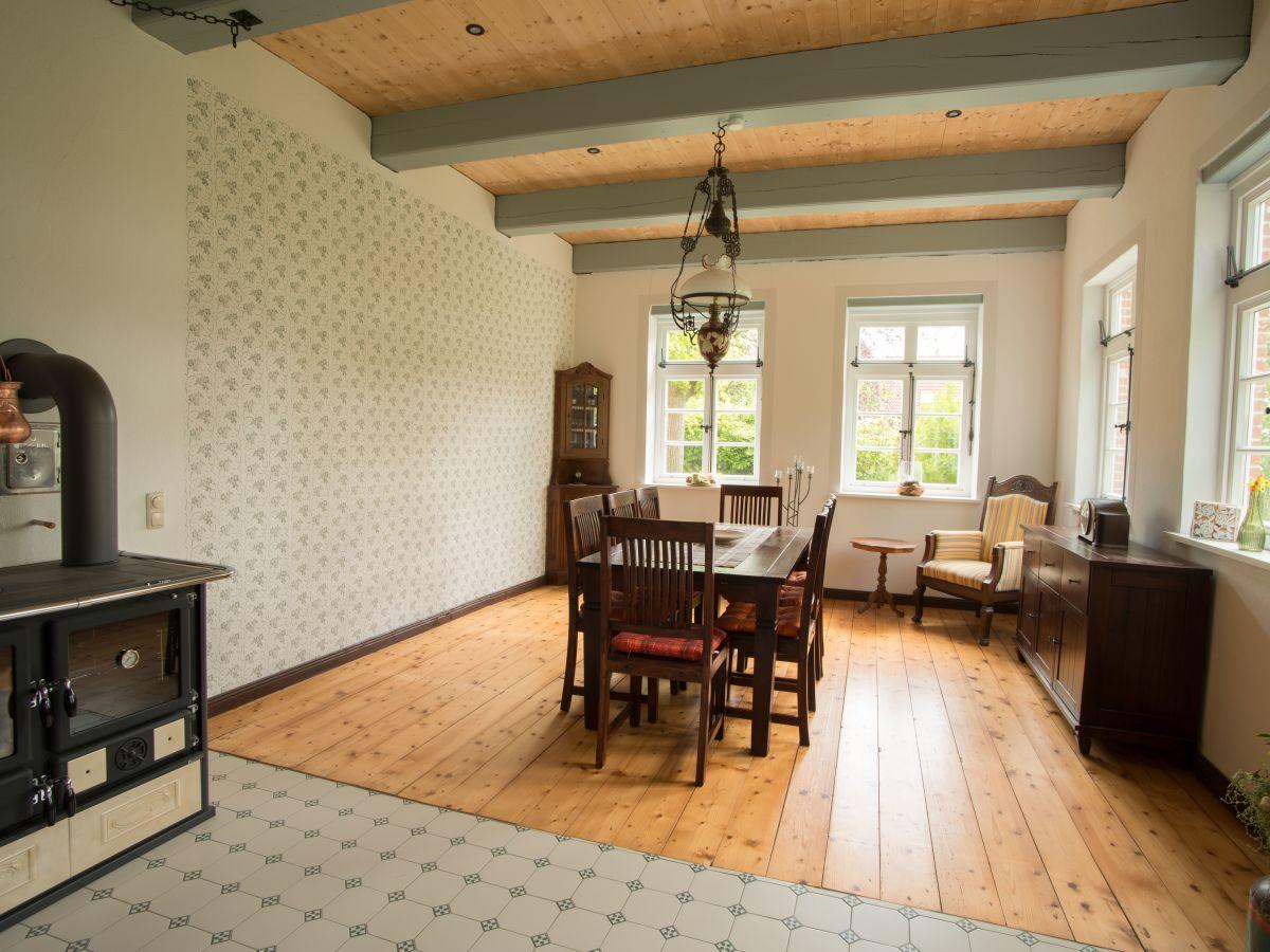 Landhaus gulfhof 1841 urlaub im denkmal nordsee - Antikes esszimmer ...