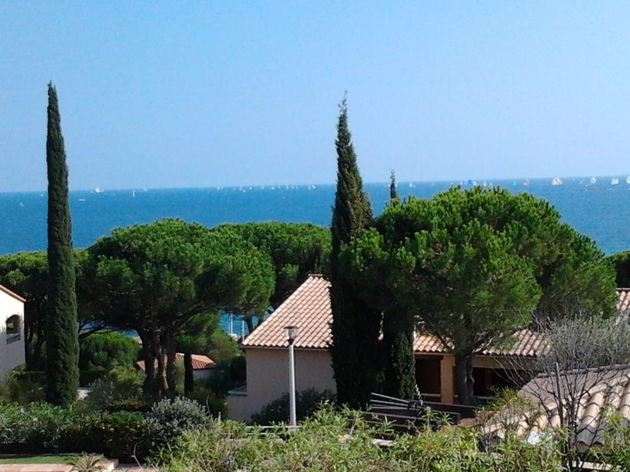 Das Meerblick von der Ferienwohnung