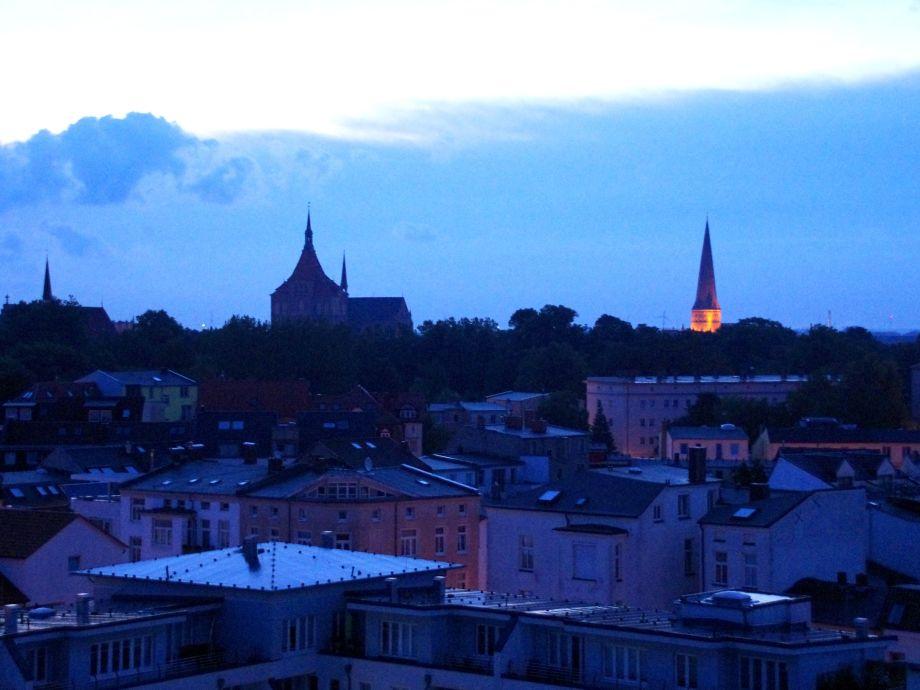 Abendstimmung Blick vom Balkon
