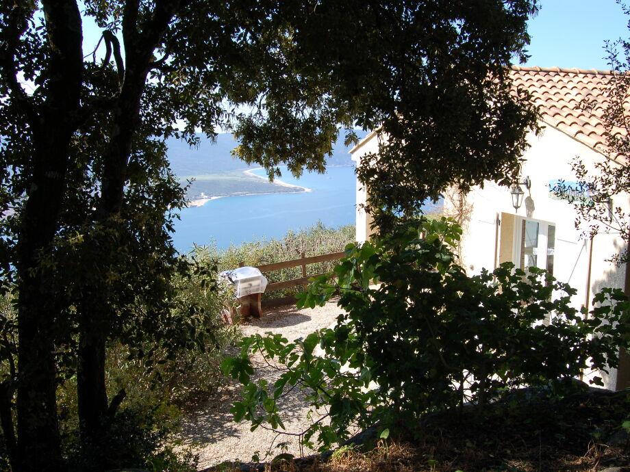 Panorama-Ausblick der Villa