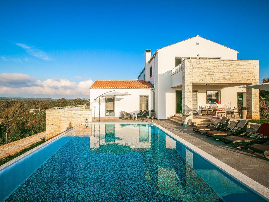 Der Außenbereich mit dem Pool
