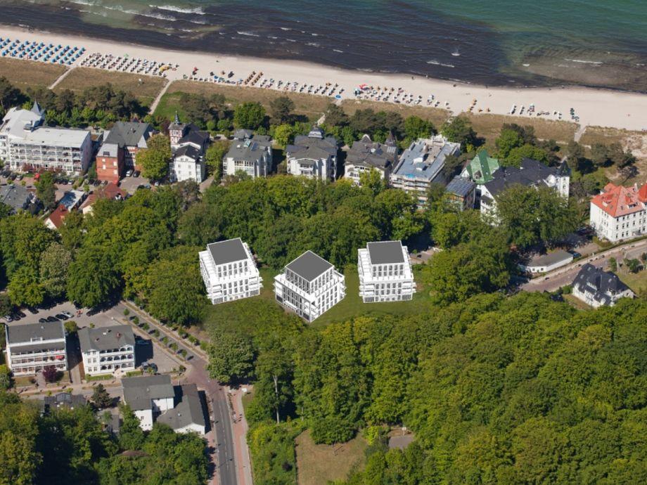 Lage der Parkvillen im Ostseebad Binz