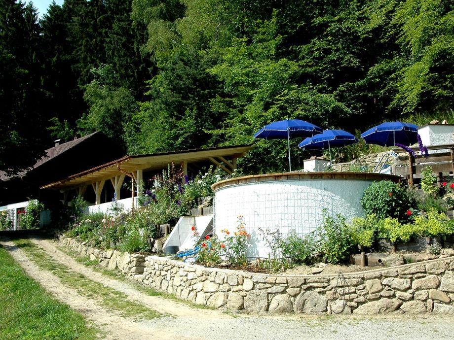 Ferienhaus schmidmassiv in alleinlage mit pool bayerischer wald