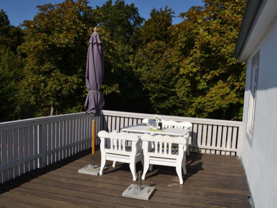 Balkon mit Sitzmöbeln
