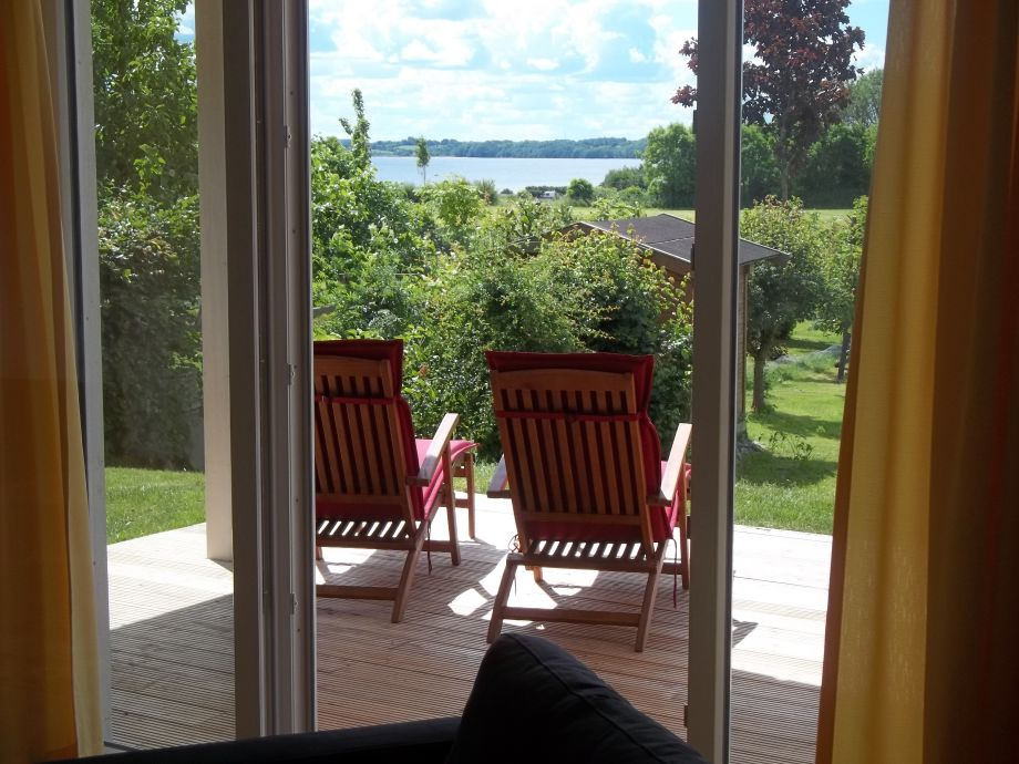 Blick aus dem Ferienhaus auf das Meer!