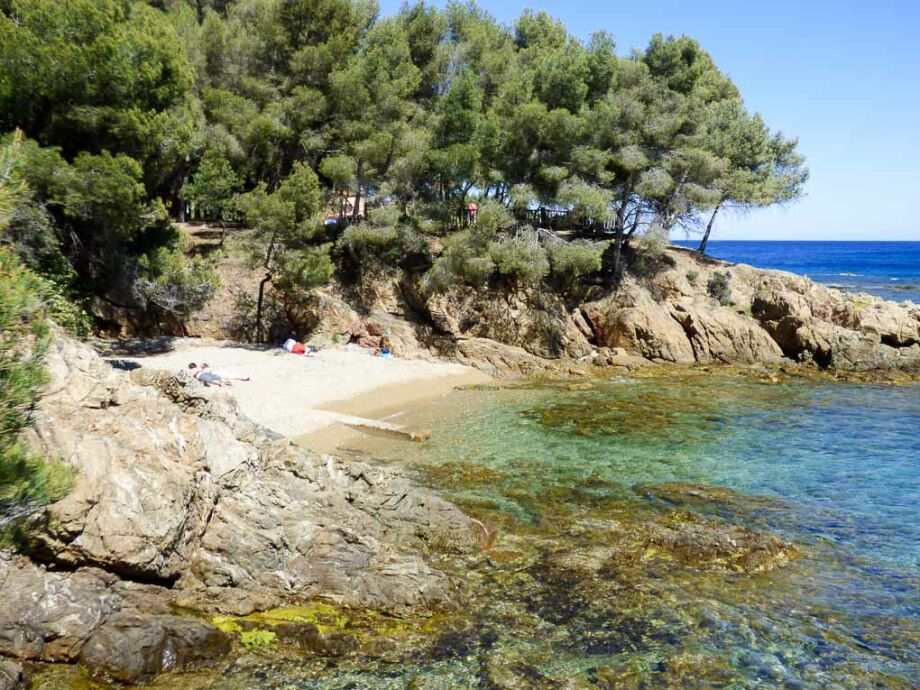 Bucht unterhalb der Ferienwohnung in Les Issambres