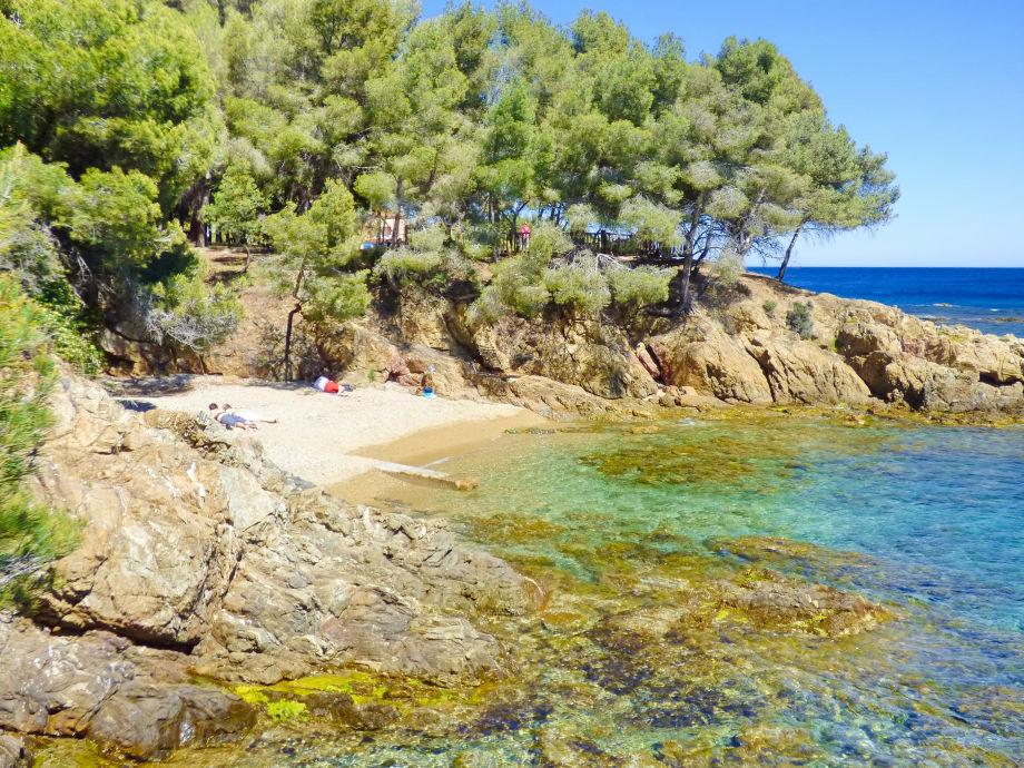 Strandbucht unterhalb der Ferienwohnung