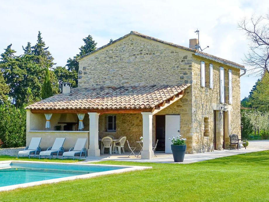 Renovated stone house with pool