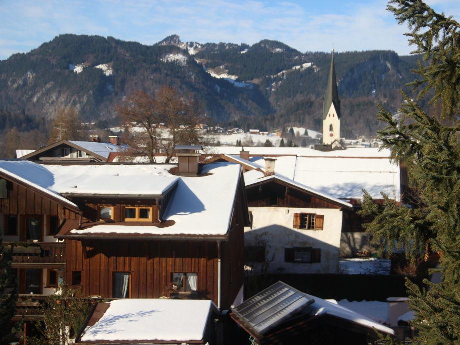 Aussicht zur Oberstdorfer Kirche