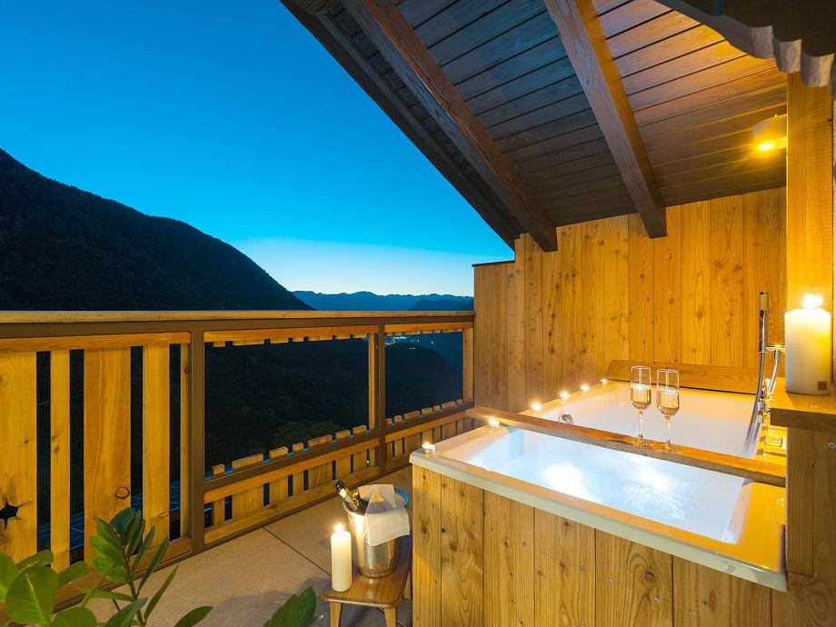 Privates Whirlpool auf der Terrasse