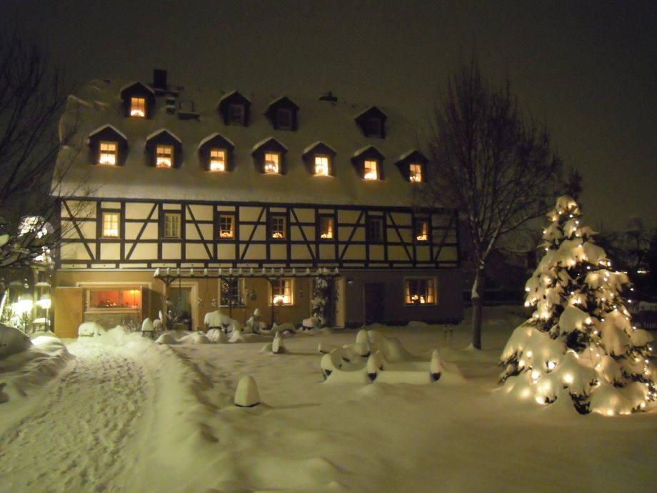 Wohnhaus im Winter (Fewos 1.Etage)