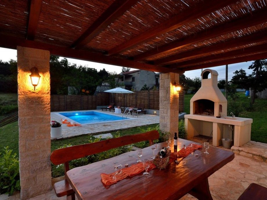 Terrasse Mit Grill Villa Casa Ulika Pican Zentralistrien Firma My