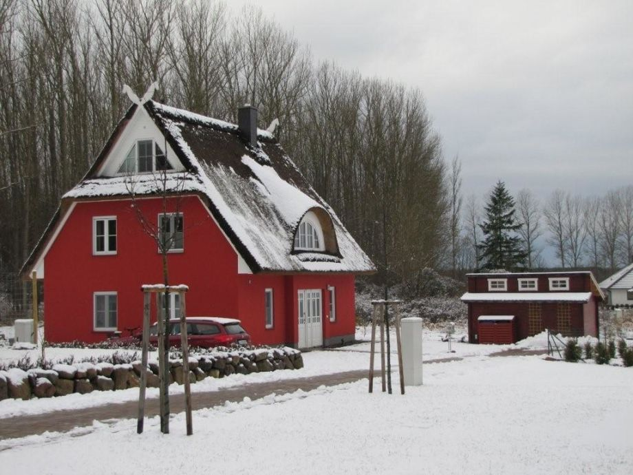 Haus Seeigel im Winter