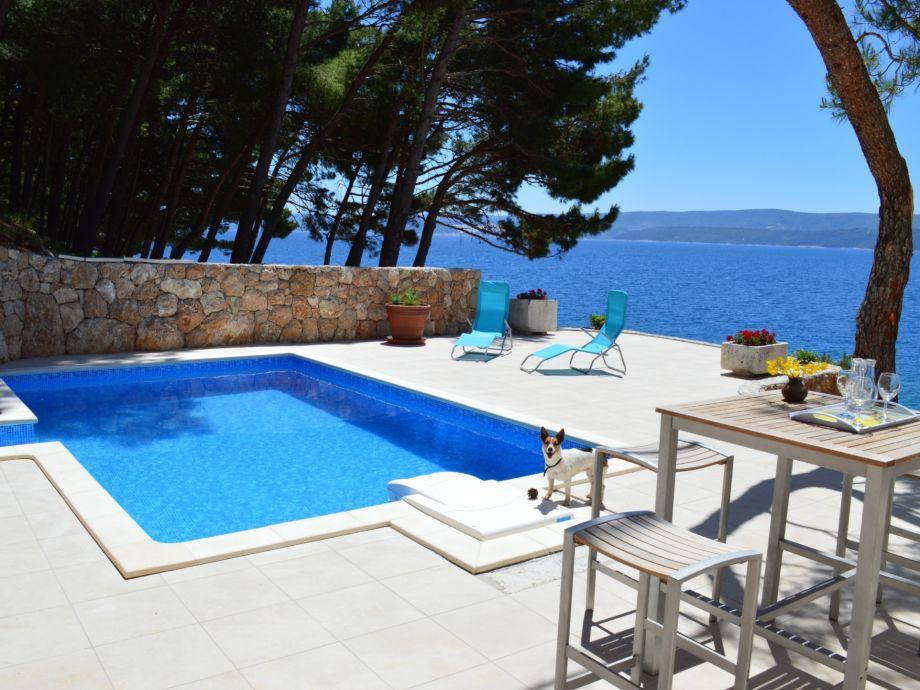 Der Pool und die Terrasse