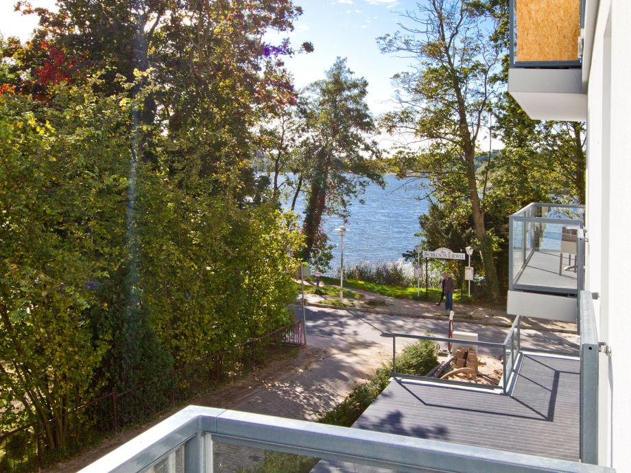 Balkon mit Blick auf die See