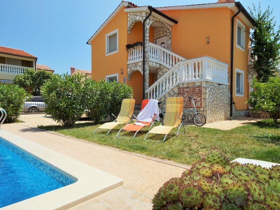 Pool, privat mit Sonnenliegen, Sonnenschirm