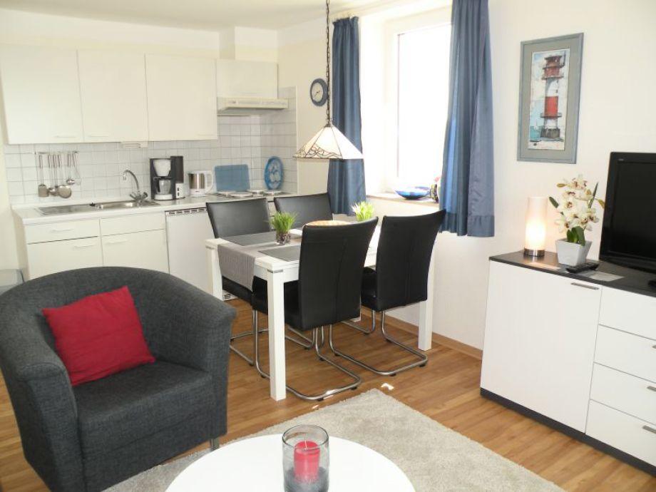 Küchenzeile Im Wohnraum ~ ferienwohnung haus horizont hz10, cuxhaven, sahlenburg
