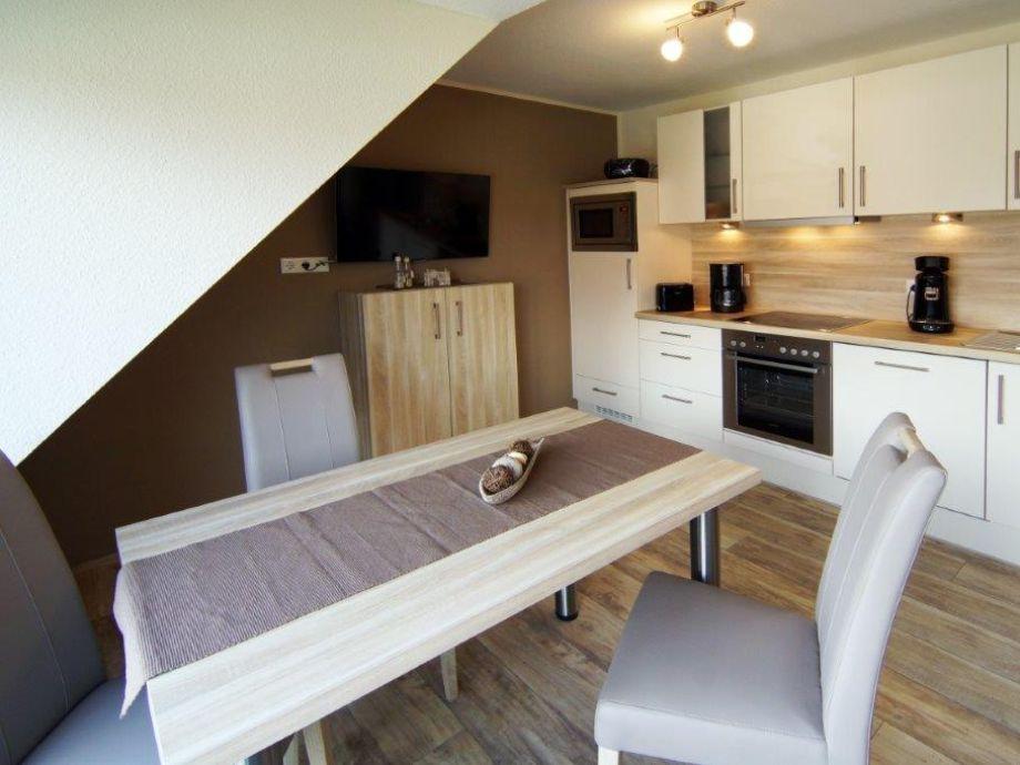 Küche mit Sitzmöglickeiten für 4 Personen