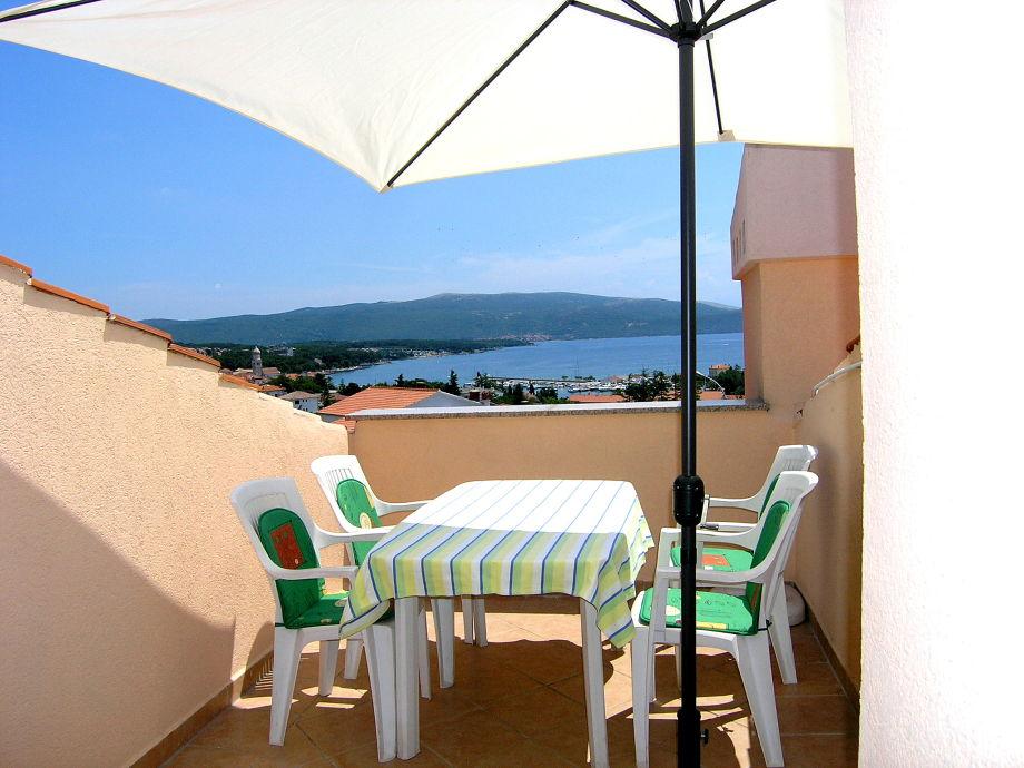 Balkon mit der Meerblick