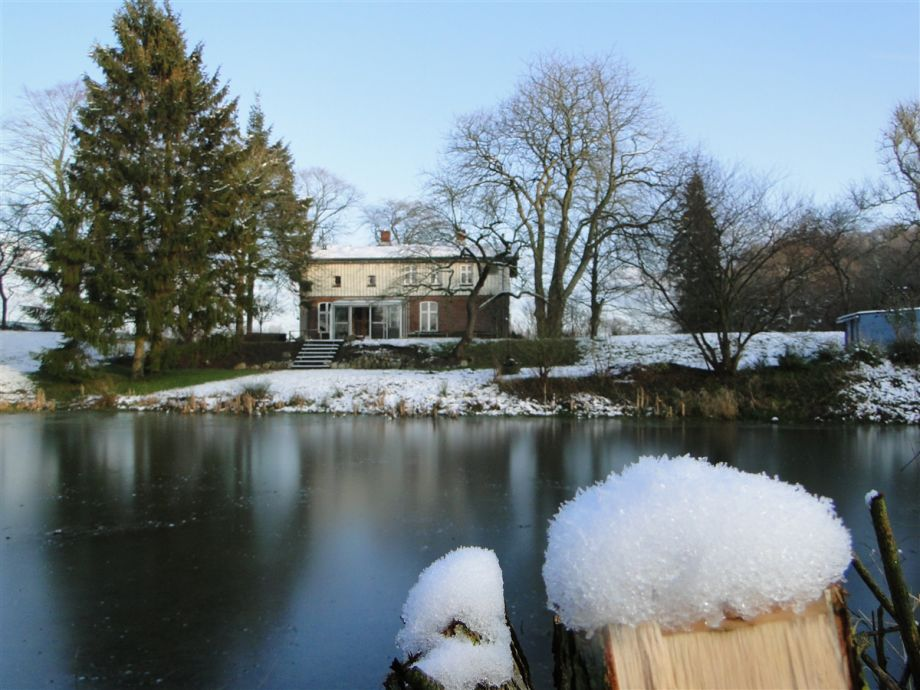 The water mill in winter