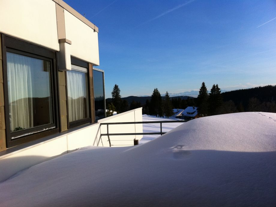 Dachterrasse im Winter