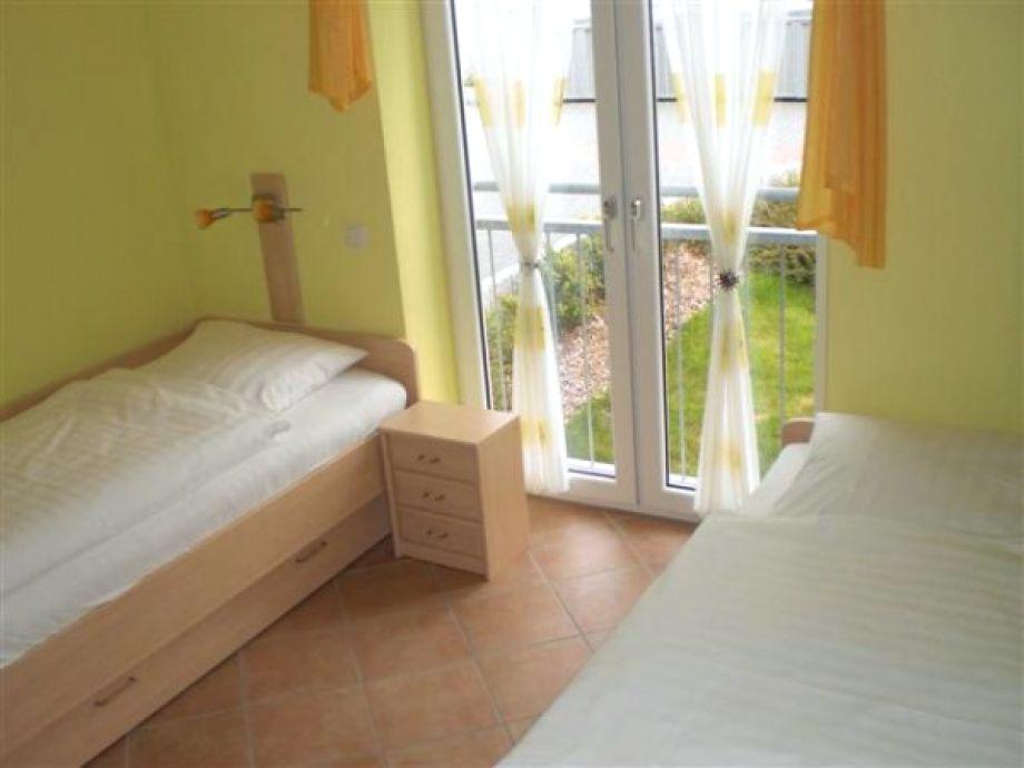 Zwei Einzelbetten im 2. Schlafzimmer