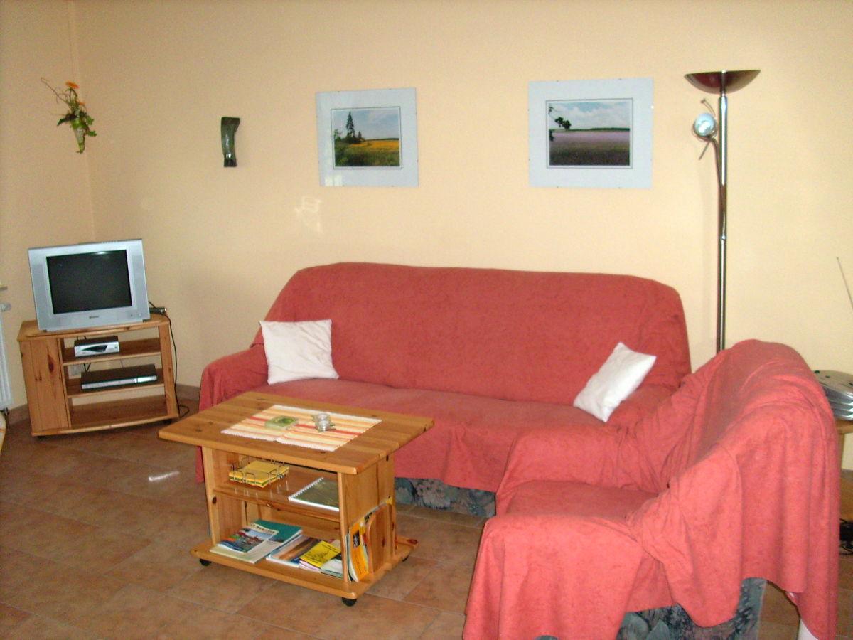 Ferienwohnung in jabel mecklenburgische seenplatte for Wohnzimmer sitzecke