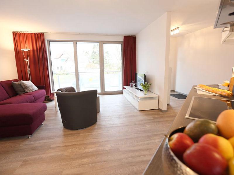 Ferienwohnung Elbstrand Resort Krautsand Deck 2, Obstgartenblick