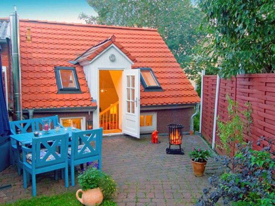 Außenansicht des kleinen Ferienhauses