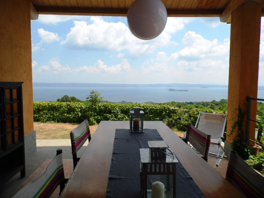 Herrlicher Ausblick von der Terrasse aus