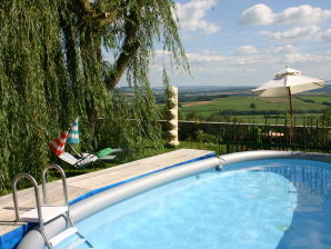 Holiday house --LaBellevue-- Breathtaking view in absolute traquillity, private Garden&Pool