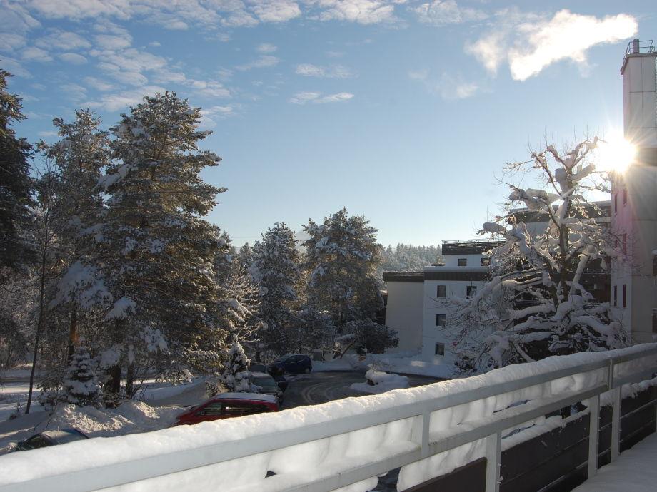 Balkon im Winter