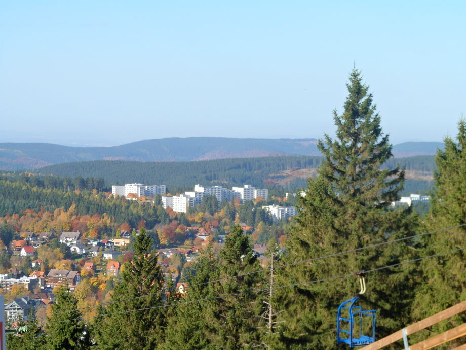 Blick vom Bocksberg auf den Ferienpark