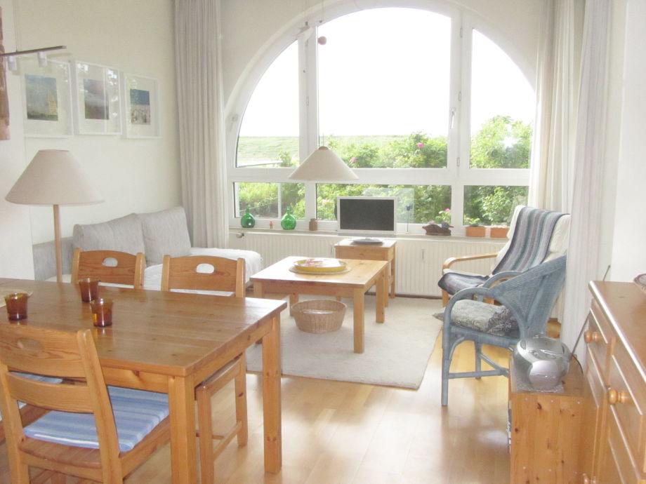 Wohnraum, Blickrichtung Fenster mit Sonne
