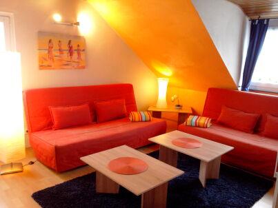 im Dachgeschoss Gästehaus in Koblenz