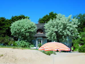 Holiday apartment at the beach in a thatched-roof house