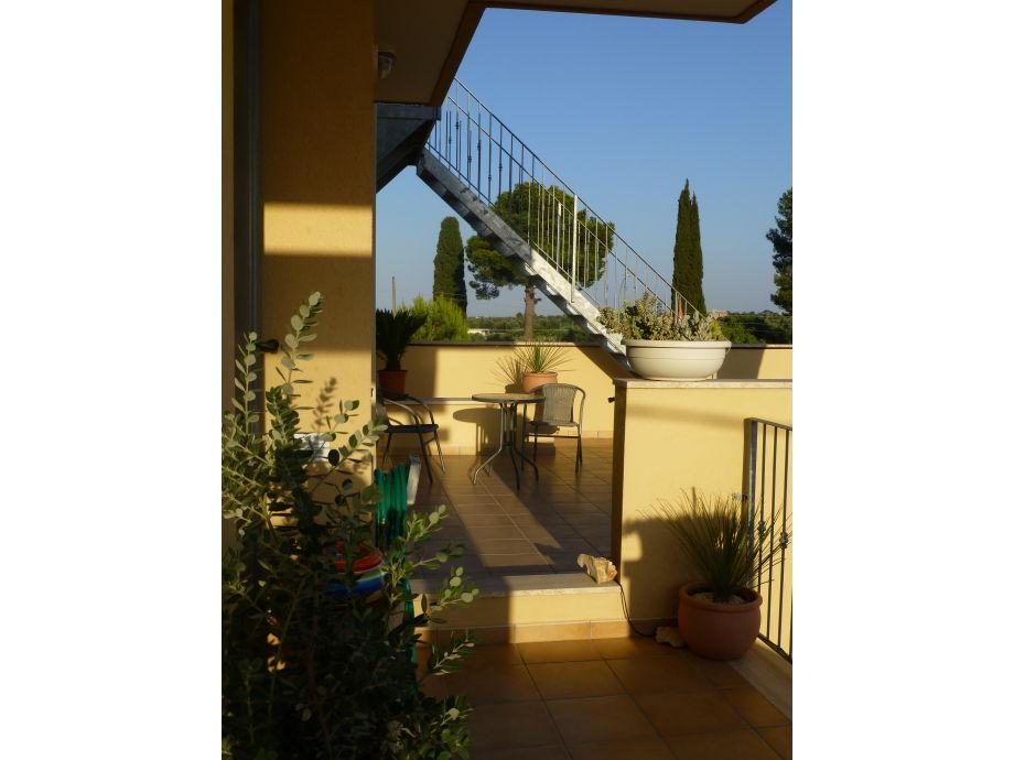Zugang zu Terrasse