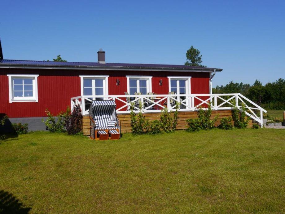Das Rödhus mit Strandkorb