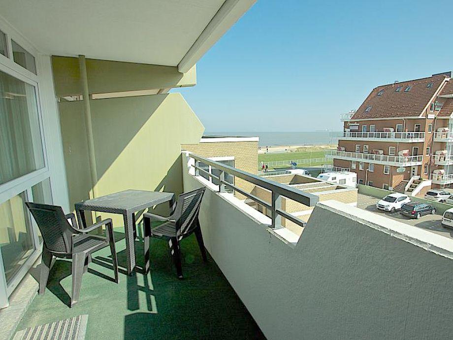 Balkon mit Nordseeblick