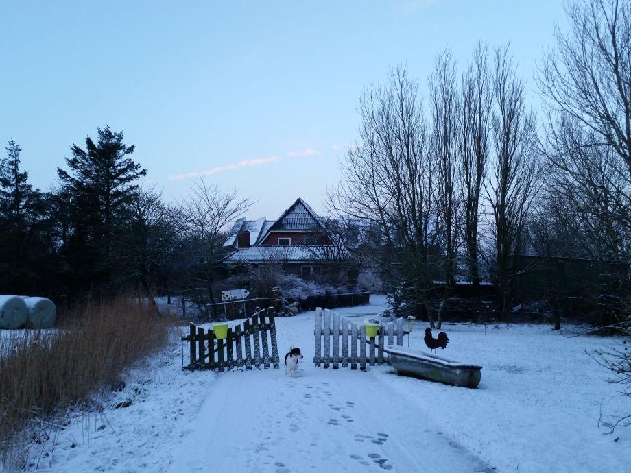 Weisse ruhige Winterzeit