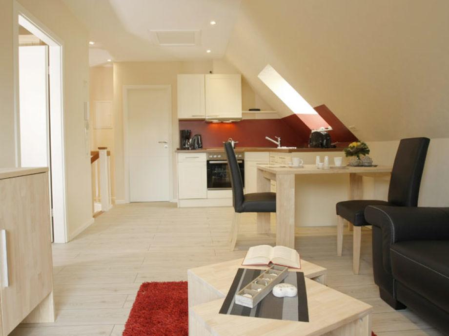 Wohn- Essbereich und Küche