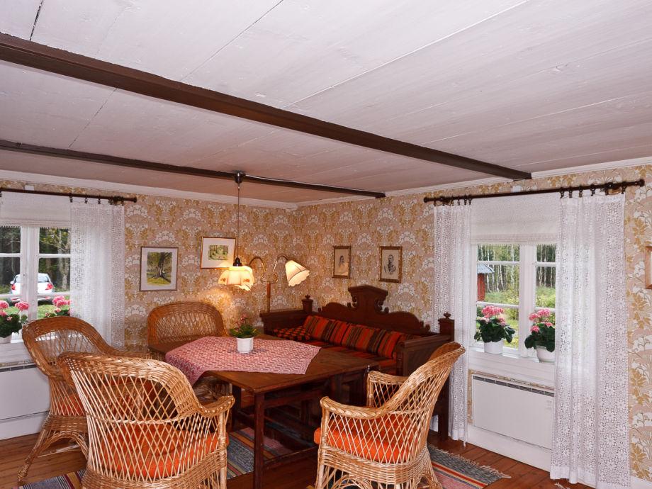Wohnzimmer Im Typisch Schwedischen Smaland Ferienhaus