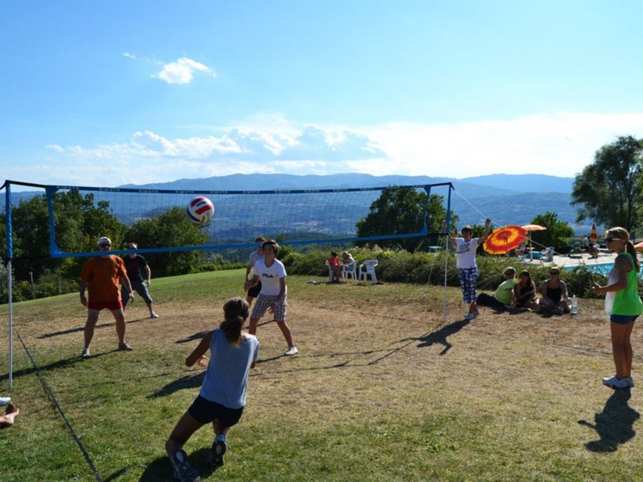 Volleyball auf dem Fattoria di Belvedere