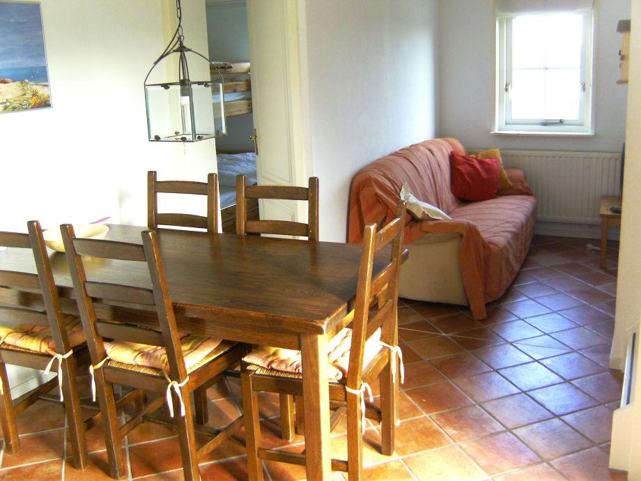 Der gemütliche Wohnbereich mit vielen Sitzgelegenheiten