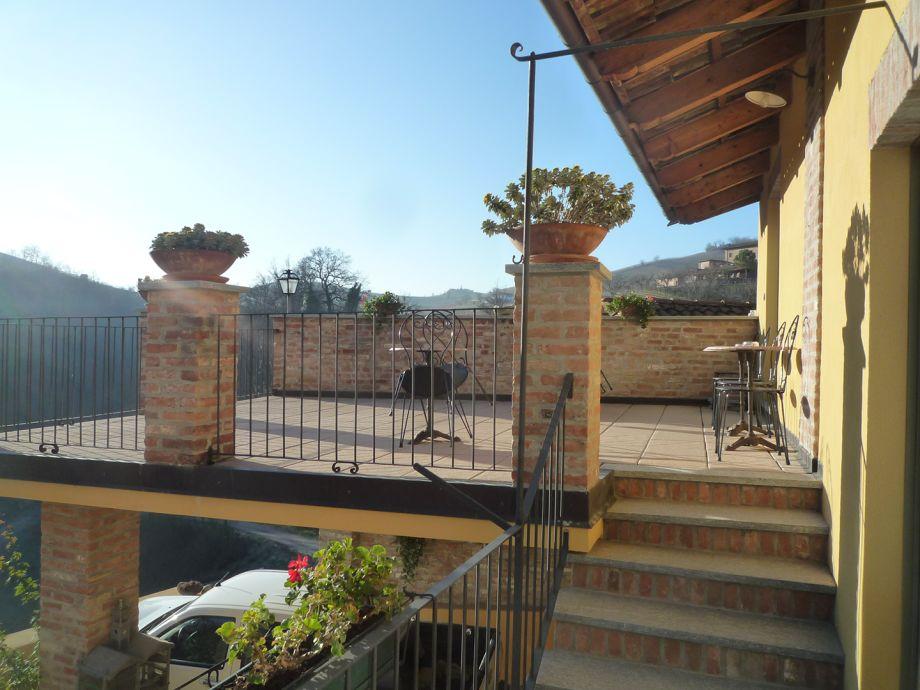 Die wunderschöne Aussicht von der Terrasse aus