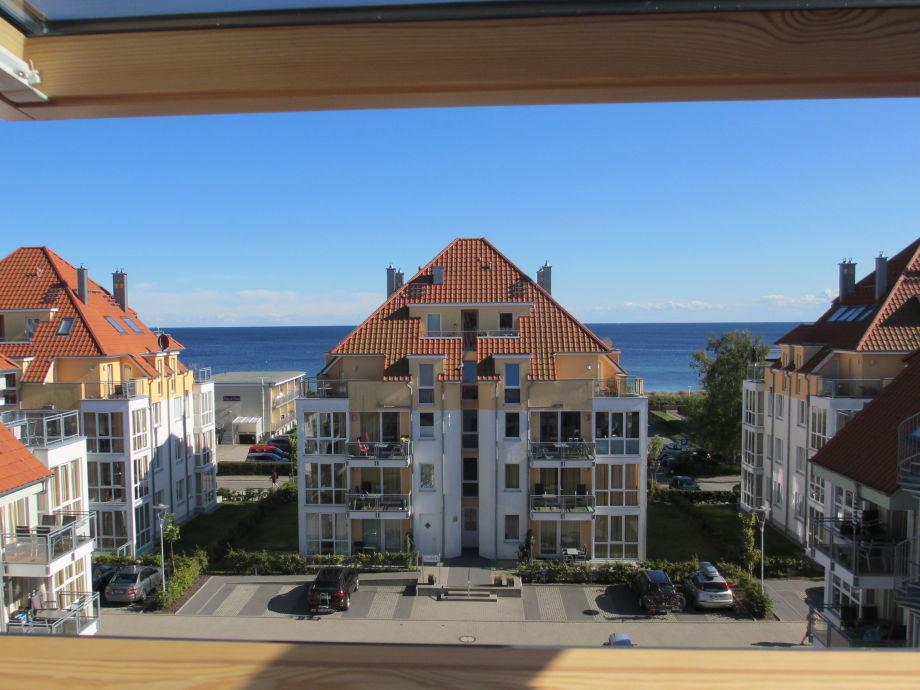 Blick von der Galerie und Essbereich auf die Ostsee
