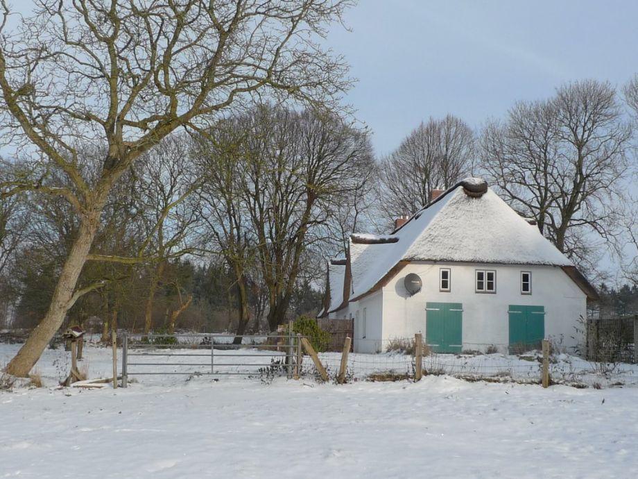 Das Landhaus im Schnee...