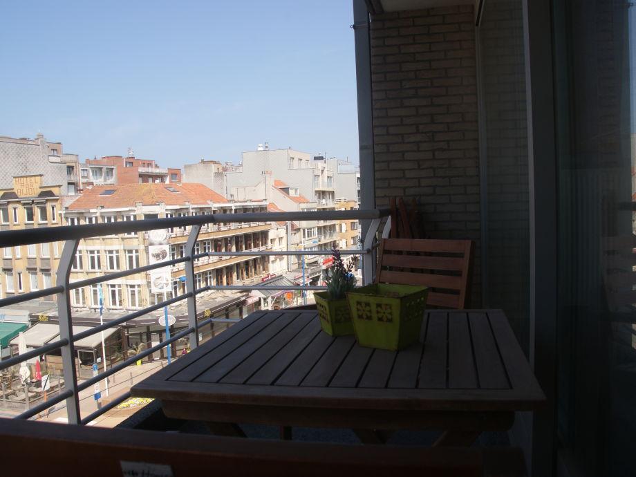 Der möblierte Balkon
