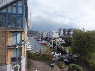 Ferienwohnung mit Ausblick auf den Yachthafen