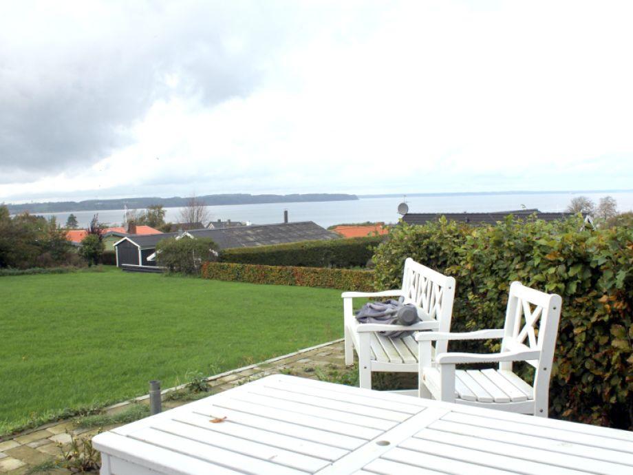 Meerblick von der Terrasse vom Hus Båringfisk